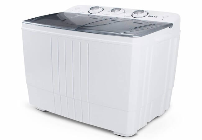 DELLA-Small-Compact-Portable-Washing-Machine-Washer-11lbs-Capacity-Top-Load-Laundry-with-Spin-Dryer-Combo-White
