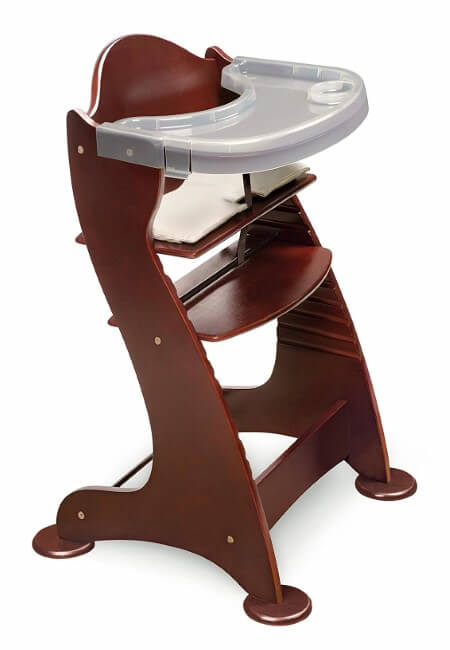 Embassy-Convertible-Height-Adjustable-Wood-Baby-High-Chair-with-2-Trays