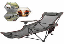 Happybuy-Gray-Folding-Camp-Chair-with-Footrest-Mesh-Lounge-Chair