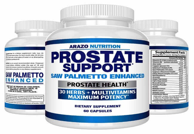 Prostate-Supplement-Saw-Palmetto-30-Herbs-Reduce-Frequent-Urination-Remedy-Hair-Loss-Libido-–-Single-Homeopathic-Herbal-Extract-Health-Supplements-Capsule-or-Pill-Arazo-Nutrition