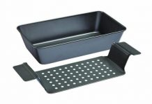 Chicago-Metallic-Professional-Non-Stick-2-Piece-Healthy-Meatloaf-Set-12.25-Inch-by-5.75-Inch-Grey-X50801