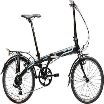 Dahon-Vybe-D7-Tour-Obsidian-with-Fenders-and-Rear-Rack-Folding-Bicycle