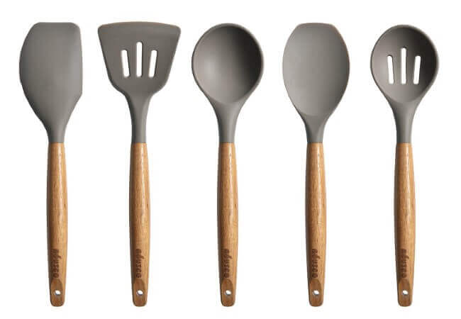 Miusco-5-Piece-Silicone-Cooking-Utensil-Set-with-Natural-Acacia-Hard-Wood-Handle