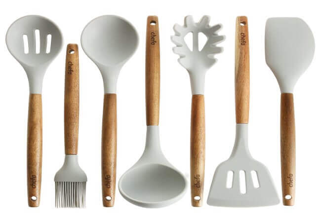 Silicone-Cooking-Utensils-Wooden-Handle-Non-Stick-Cookware