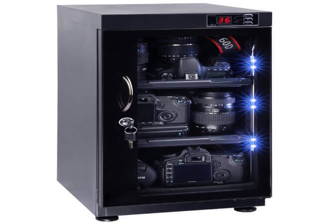 T.A.P-48L-Digital-Control-Electronic-Automatic-Dry-Cabinet-Box-Storage-for-DSLR-Camera-lens