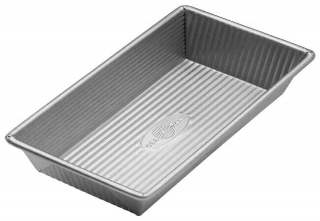 USA-Pan-1140LF-Bakeware-Aluminized-Steel-Loaf-Pan-8.5-x-4.5-x-3-Inch-Small-Silver