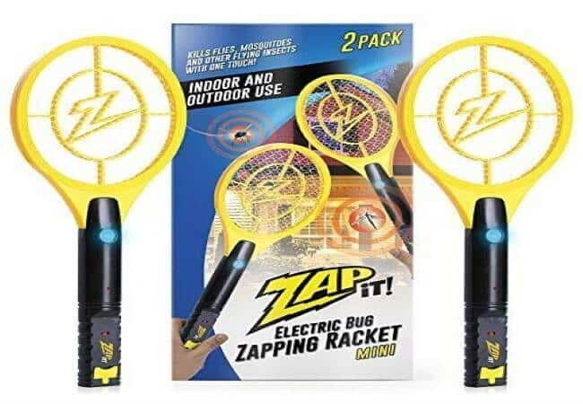 ZAP-IT-Bug-Zapper-Twin-Pack-Rechargeable-Mosquito-Fly-Killer-and-Bug-Zapper-Racket-4000-Volt-USB-Charging-Super-Bright-LED-Light-to-Zap