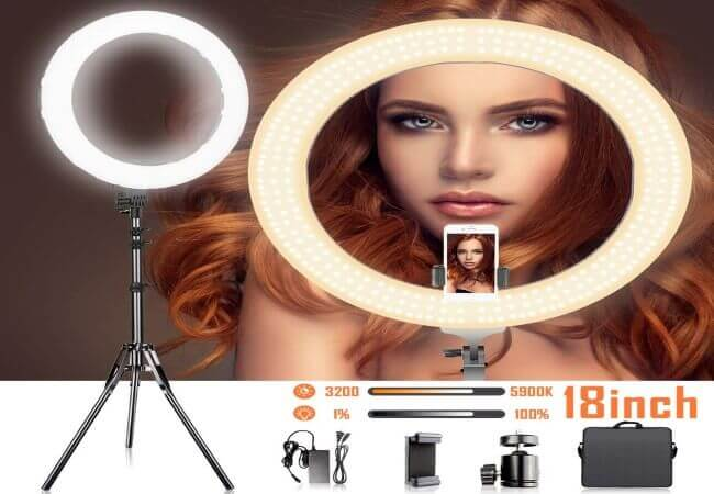 18-Inches-Adjustable-3200-5900K-Color-Temperature-Ring-Light