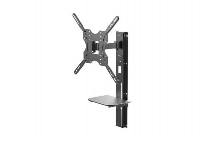 Full-Motion-Wall-Mount-Bracket-with-Height-Adjustment-Support