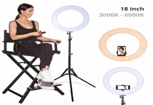 Inkeltech-Ring-Light-18-inch-60-W-Dimmable-LED-Ring-Light