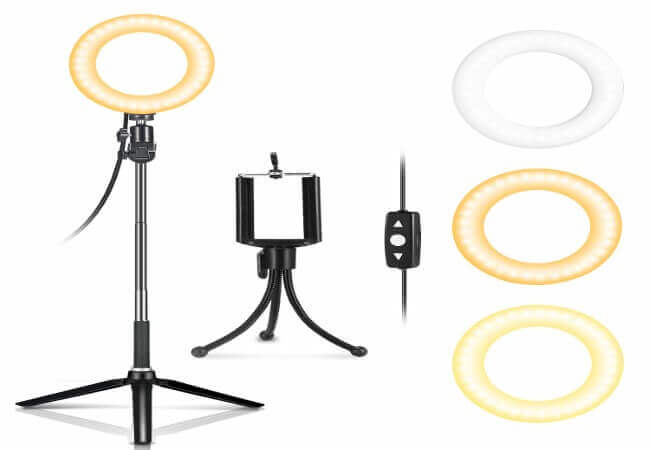 LED-Ring-Light-6-IDESION-LED-Selfie-Ring-Light-with-Tripod-Stand