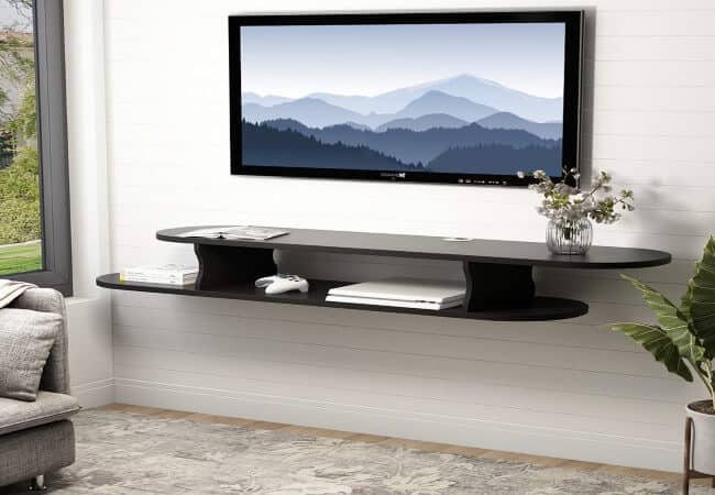 Tribesigns-2-Tier-Modern-Wall-Mounted-Media-Console-Floating-TV-Shelf-TV-Stand-59x13x7-inch-for-Xbox