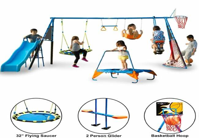 FITNESS-REALITY-KIDS-'The-Ultimate'-8-Station-Sports-Series-Metal-Swing-Set