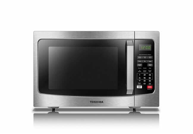 Toshiba-EM131A5C-SS-Microwave-Oven-with-Smart-Sensor-Easy-Clean-Interior-ECO-Mode-and-Sound-On-Off-1.2-Cu.ft-1100W-Stainless-Steel